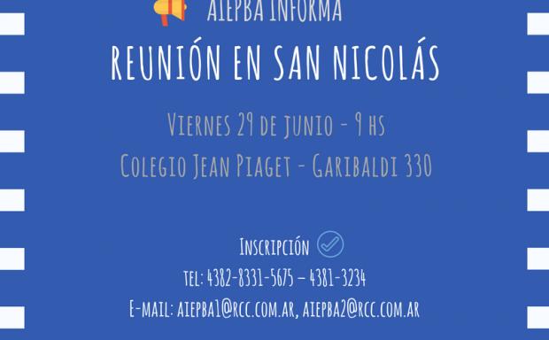 Reunion san nicolas