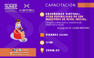 REDES ensenanza virtual inicial maternal