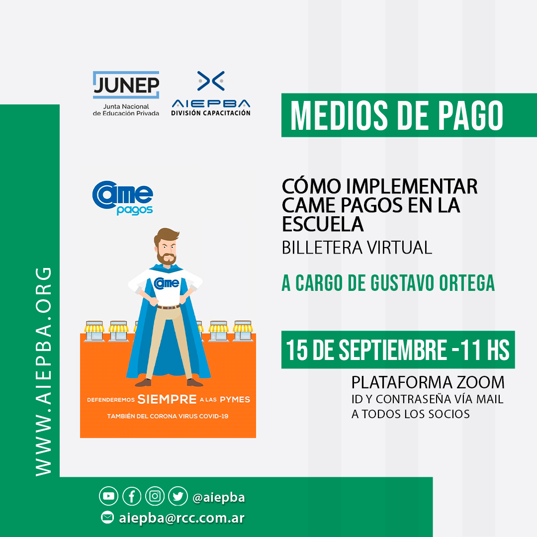 REDES CAME PAGOS 15 sept