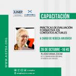 """Capacitación """"Prácticas de evaluación formativa en contextos actuales"""" – lunes 26 de octubre – 16 hs"""