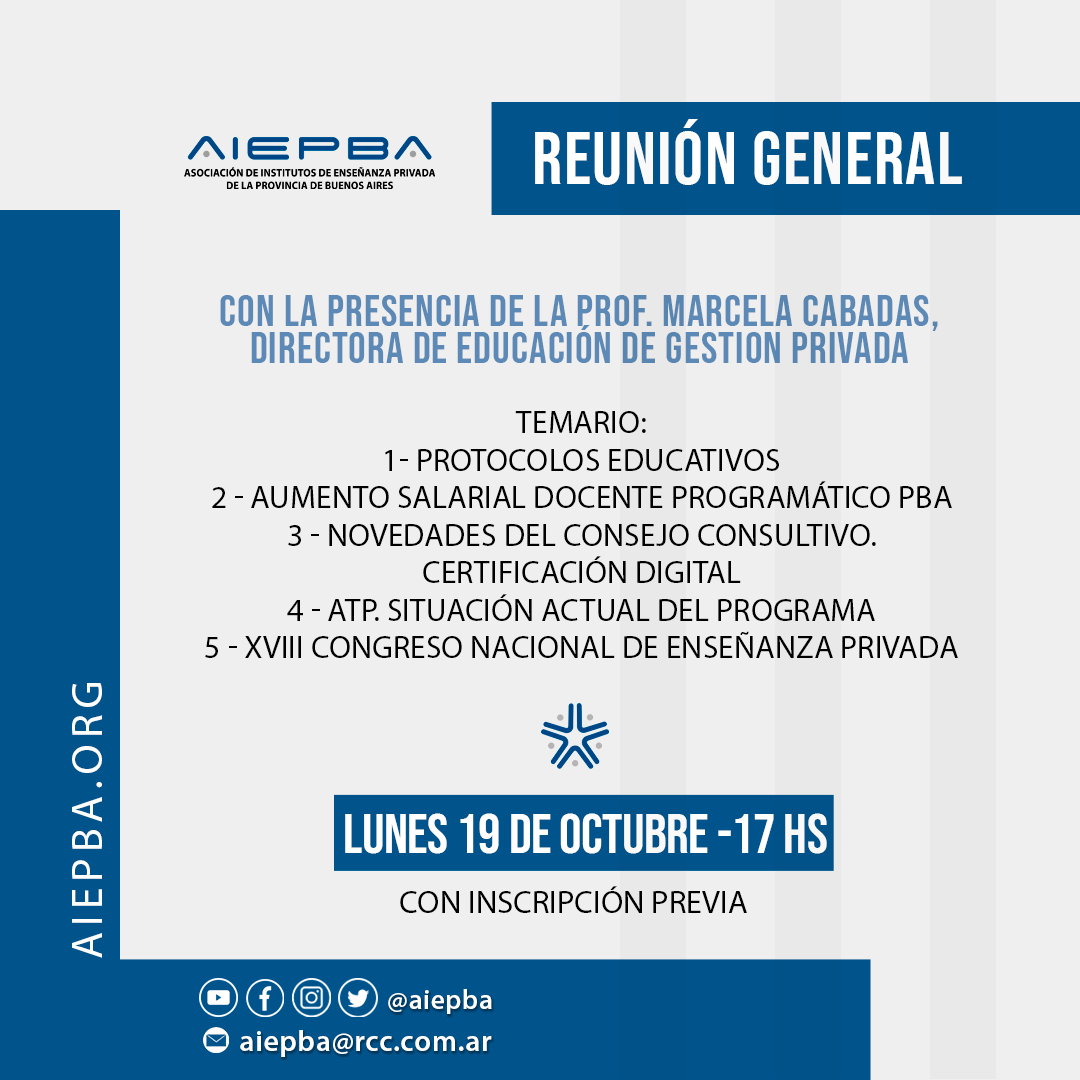 Reunion lunes 19 oct