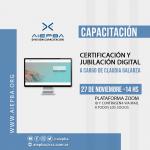 """Capacitación """"Certificación y jubilación digital"""" – viernes 27 de noviembre – 14 hs"""