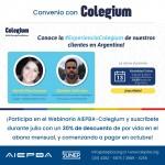 Invitación webinario Colegium